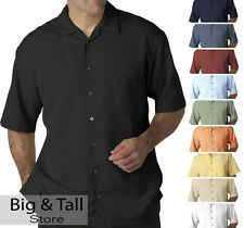 Big Men's UltraClub Casual Cabana Shirt Sizes 3XL 4XL 5XL 6XL