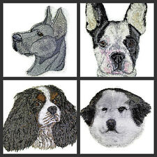 Beautiful Dog Faces Embroidered Iron On Patches (C- G )