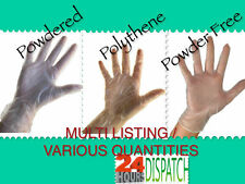 **SUPER CHEAP** Disposable LATEX FREE Gloves, Powder Free, Powdered or Polythene