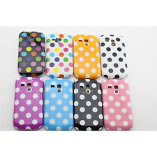 For Sumsung Galaxy S3 MINI i8190 Polka Dot Soft Protective Cell Phone Cover Case