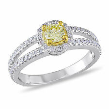 Miadora Signature Collection 14k Gold 1ct TDW Yellow and White Diamond Ring (G-H
