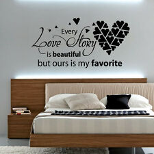 EVERY LOVE STORY IS BEAUTIFUL - Vinyl Wall Art Sticker Quote Decal, Bedroom