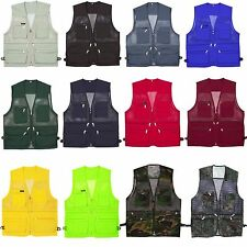 Mens Multi Pockets Fly Fishing Hunting Mesh Vests Mens Travel Outdoor Jacket Top