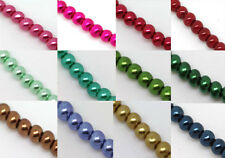 Hot Sell! Wholesale Lots Glass Pearl Round Spacer Loose Beads 4mm/6mm/8mm 29 COL