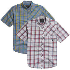 FOX RACING MEN'S KID A WOVEN CHECKED SHIRT WHITE RED LIGHT SLATE BLUE YELLOW NEW