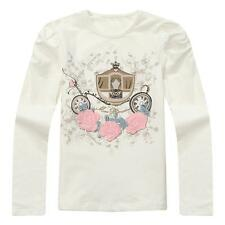 Richie House Girl's T-shirt with Flower Print RH1217