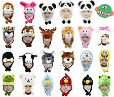 Adorable Warm Winter Cartoon Animal Hat Beanie Earmuff Hoodies Cap with Scarf