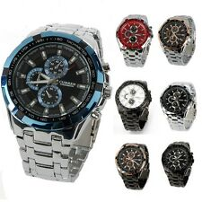 Luxury Classic Stainless Steel Sport Analog Quartz Clock Mens Wrist Watch New