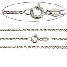 """Fine 1.2mm Trace Chain 925 Stamped Solid Sterling Silver Necklace 16-24"""" INCH"""