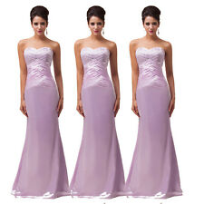Stunning Lady Lavender Cocktail Celebrity Party Formal Prom Full-Length Dress
