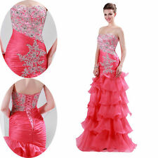 Organza Sweetheart Sexy Prom Party Ball Gowns Wedding Evening Formal Long Dress