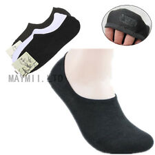 3 Pairs Nonslip Bamboo Fiber Socks Cotton Ankle Boat Low-cut No-show Silicon