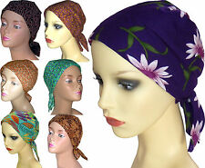PADDED COTTON HEAD SCARVES. CHOICE OF SEVEN Headwear for Cancer, Chemo, Hairloss