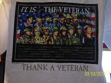 """IT IS THE VETERAN""  TRIBUTE T-SHIRT TO THANK VETERANS FOR THEIR SERVICE CREW NK"
