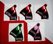 scuba patch diving equipment novelty fun gift snorkeling jacket hat fun diver