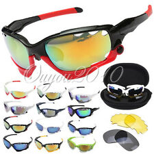 Outdoor Cycling Bicycle Bike Sport UV 400 3 Lens Protection Goggle Sun Glasses