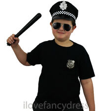 CHILD POLICE HAT KIDS COP FANCY DRESS PANDA CAP OFFICER COSTUME ACCESSORY