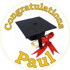 Personalised Graduation Cake Toppers, 10 Options on Icing or Rice Paper