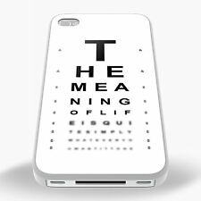 The Meaning Of Life Eye Test Phone Case for iPhone & Samsung Galaxy