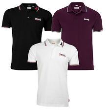 "Lonsdale ""Lion"" Classic Polo Shirt Lion 100% Cotton Pique Boxing Chemise XS-3XL"