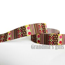 """7/8""""22mm Colourful Printed Grosgrain Ribbon 10/50/100 Yards Hairbow Wholesale"""