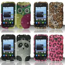 FOR ZTE SAVVY Z750C BLING Snap Hard Phone Case Protector Cover Accessory