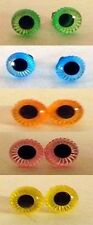 Troll Doll (animal) Replacement Eyes Colored with Spirals 6mm (1 pair)