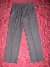 Pants by Public Notices elegant black dressy  with stripe flat front NWT