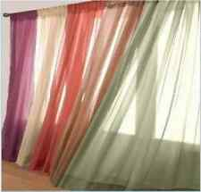 """ONE  Sheer Voile Window Panel curtains 20 different colors CURTAIN!!  95"""" LENGTH"""