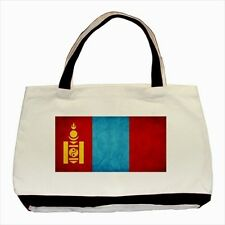 Mongolia Grunge Flag - Tote or Recycle Bags (9 Options) -TU4546