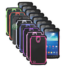 Hybrid Rugged Rubber Matte Hard Case Cover for Samsung Galaxy S 4 S4 GS4 Active