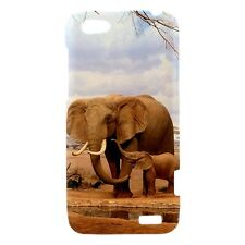 Elephant Family Stroll Design - Hard Case for HTC Cell (30 Models) -OP4379