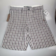 """New Vans junior fulton fitted checkered boys board shorts age 12-14 25""""-27""""waist"""