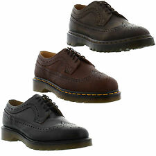 New Dr Martens 3989 Brogue Leather Shoes Mens Womens Ladies Size UK 4-14