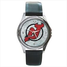 New Jersey Devils Hockey - Leather or Metal Watches (10 Styles)-AA5152