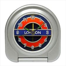 London Sign Text Design - Travel, Jewerly or Desk Clock - DE4623