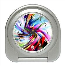 Vanishing Point Abstract Design - Travel, Jewerly or Desk Clock - DE5034