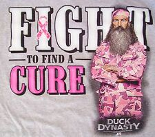 Duck Dynasty Fight for the Cure Breast Cancer Awareness M L XL 2X FREE FAST SHIP