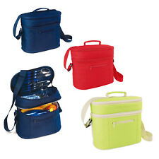 Cooler PICNIC Bag - Camping - Insulated Coolbag Hamper - Cups Cutlery - Napkins
