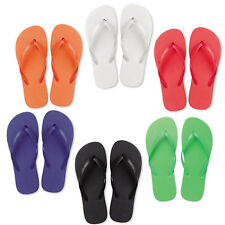 New Ladies Beach Flip Flops - Summer Sandals Bright Foam 2 Sizes M or L