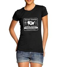 Women's Zombie Hunting Permit Funny Tee T-Shirt