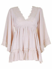 New Womens' Beatrice Tunic Top cream colour in S,M,L,XL sizes of Darling brand
