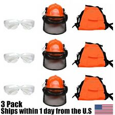 Chain Saw Safety Chaps Pants Hard Hat Helmet Glasses Chain Saw Woodcutters
