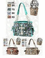 Montana West Big Cross Concealed Carry Floral Style Shoulder Bag Purse FBCG-8085