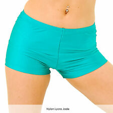 Ladies Hot Pants Shorts Shiny Nylon Lycra for Dance Gymnastics Adults All Colour