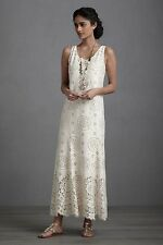 Anna Sui Floral-embroidered Lace Maxi Dress Size S M L 8 10 12 Wedding Beach