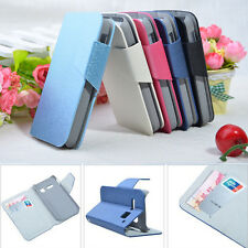 Hot Silk PU Leather Stand Case Cover for Alcatel One Touch S Pop OT-4030 4030D