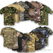 MENS MILITARY T SHIRT  XS - XXXL ARMY COMBAT 100% COTTON CAMOUFLAGE BRITISH USA