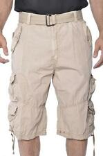 M Society Basic Esentials  Men's Chief  Drawstring Legs  Belted Cargo Shorts 023