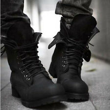 Hot Men's England Fashion Lace Army Boots Retro Suede Boots High-top Boots